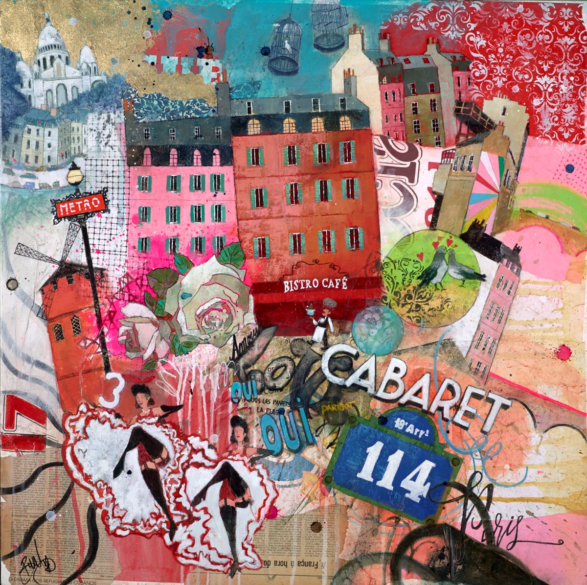 Cabaret by richard burel -  sized 32x32 inches. Available from Whitewall Galleries